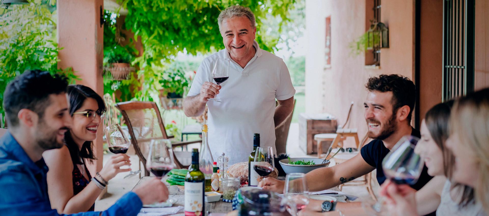 Caviro vino in tavola